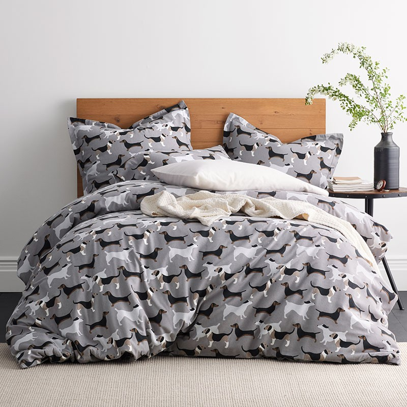 Top Dog Print 5 Oz Flannel Bedding The Company Store Flannel Duvet Cover Flannel Duvet Full Duvet Cover