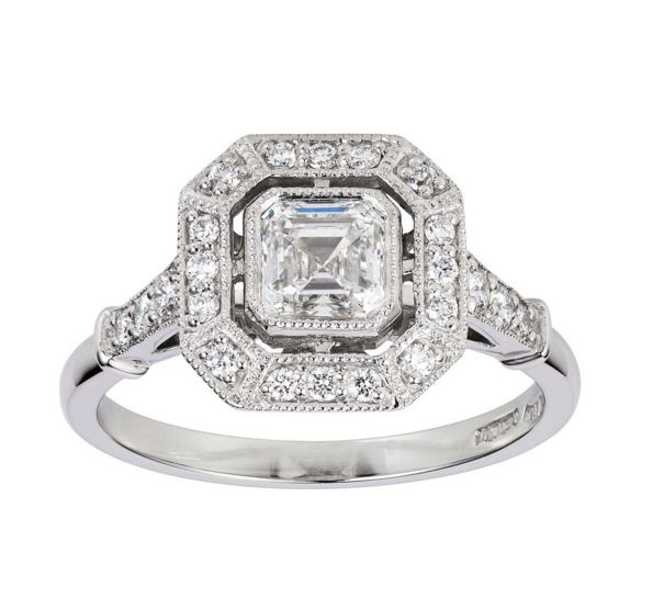 Pippa Middleton's Engagement ring. Check out more Asscher engagement rings at http://stores.ebay.com/man-made-jewels.