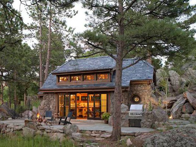 A Perfectly Rustic Tiny Mountain Home In Colorado Country Cottage House Plans Mountain Cottage Stone Cottage