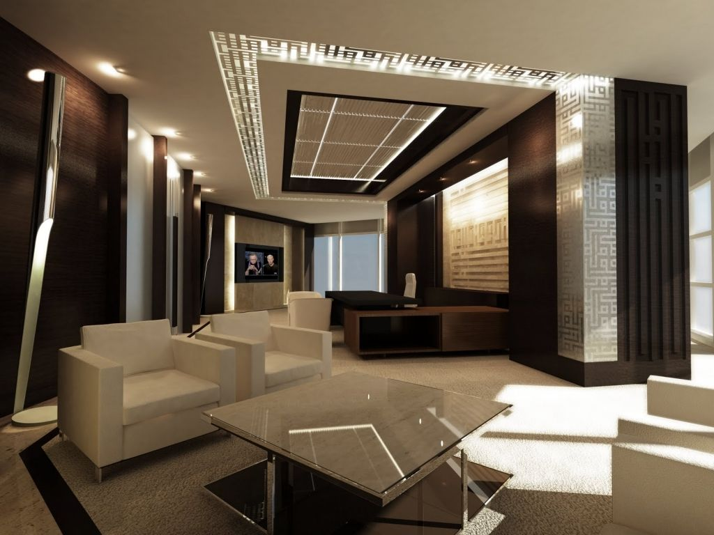 Elegant Ceo Luxury Office Contemporary Interior Design Amazing Home ...