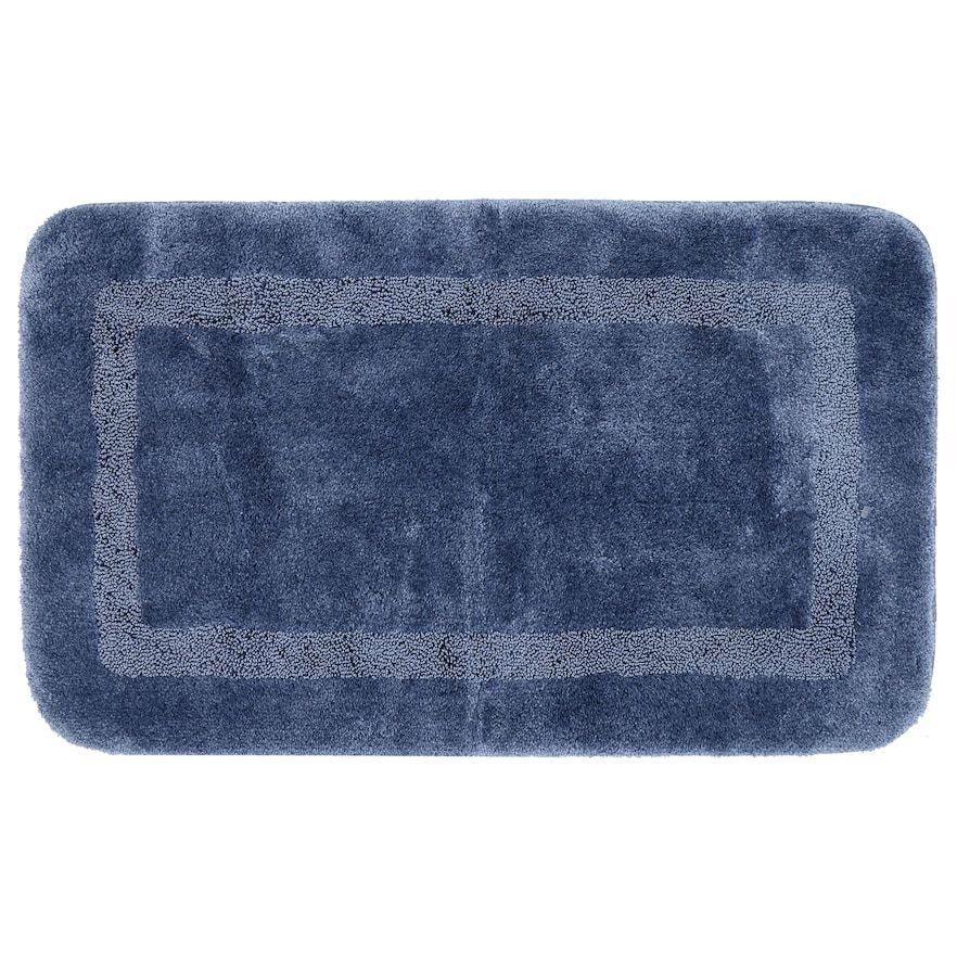Mohawk Home Facet Bath Runner Blue 20x60 Bath Rugs Blue Bath