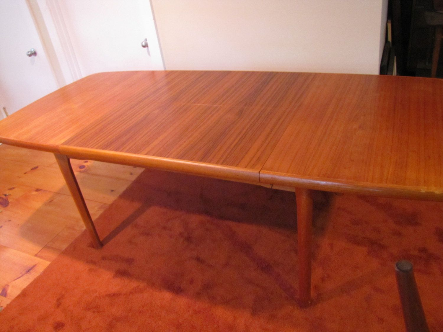 Teak Dining Table, Danish Modern Dining Table, AM 56, Made In Denmark,  Extending Dining Table, 92