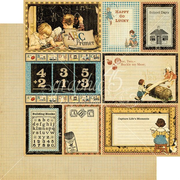Graphic 45 An Abc Primer Deluxe Collector S Edition Pack Is Sure To Inspire Your Scrapbooking Projects And More This Package Cont Graphic 45 Alte Schule 3 D