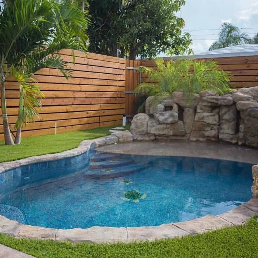 23 Our New Stock Tank Swimming Pool In Our Sloped Yard Page 17 Remonis Com Small Backyard Pools Backyard Pool Designs Backyard Pool
