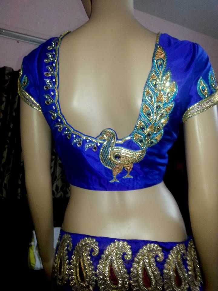 Maggam Work Blouse  Blouse Embroidery Designs  Pinterest