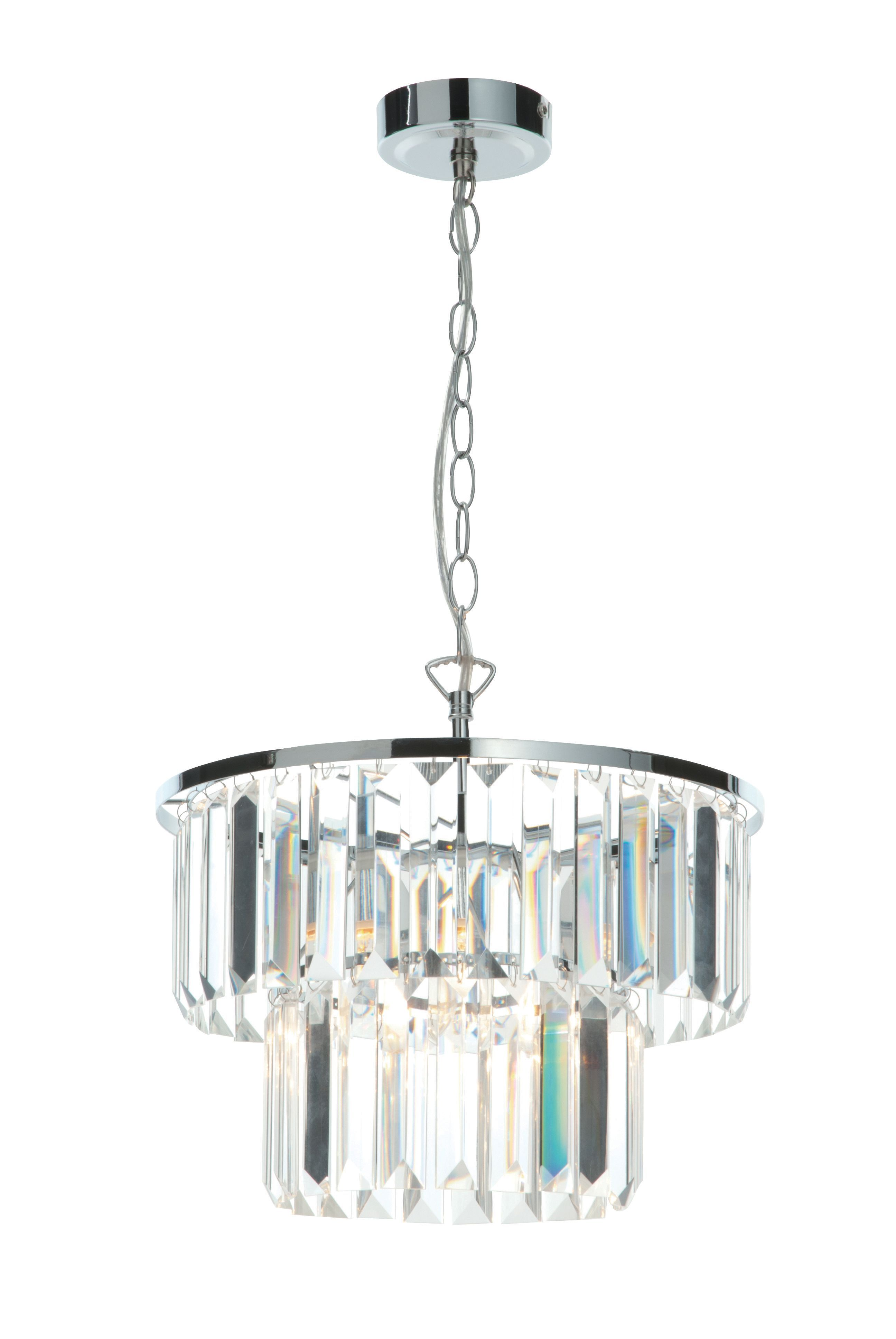 Beaufort Cut Glass Clear Pendant Ceiling Light | Cut glass, Ceiling ...