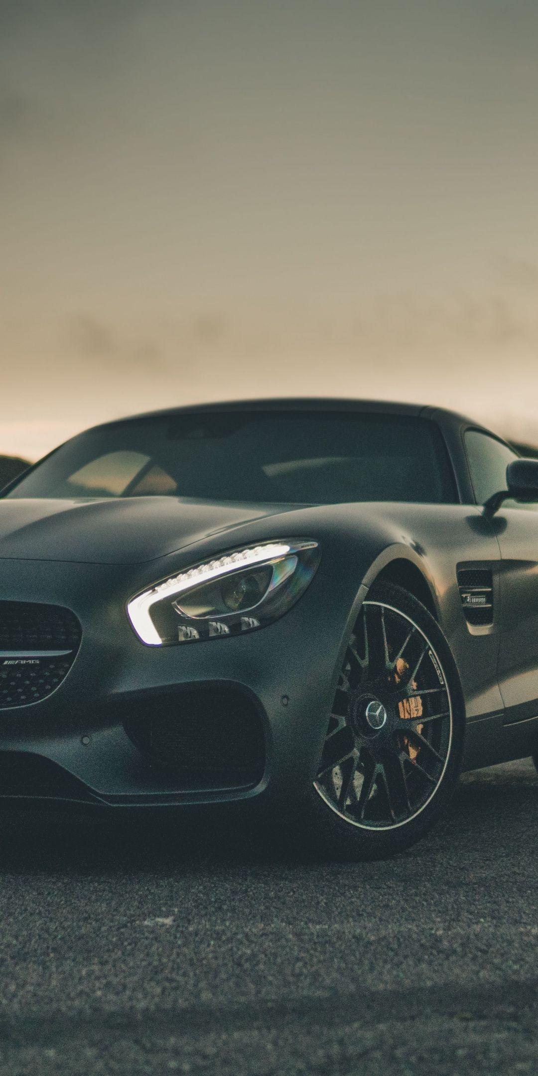 Black Mercedes Amg Gt Sports Car 1080x2160 Wallpaper Con