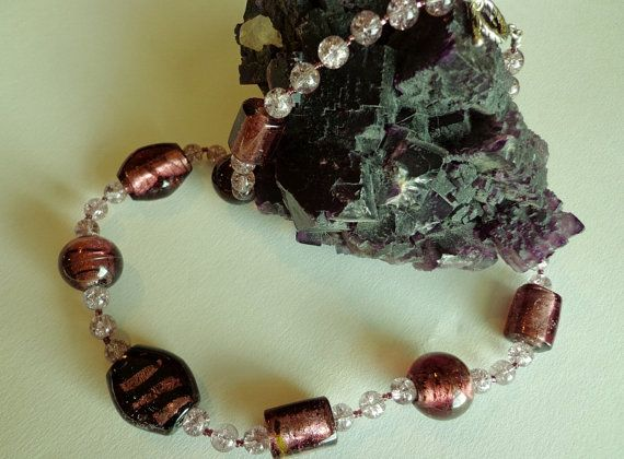 Lucious Grape Glass Beads Necklace by BlueRidgeBijoux on Etsy, $35.00