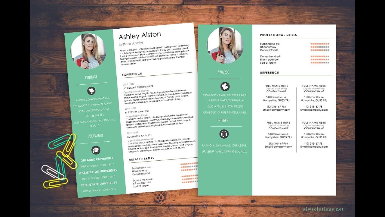 How To Create Cv Resume In Ms Word Resume HttpWwwAiwsolutions