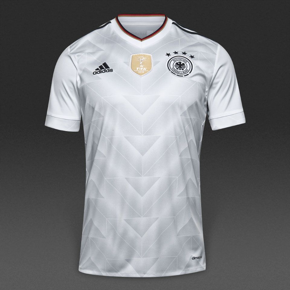 adidas Germany 2017 Home Jersey - White/Black | DFB Team ...