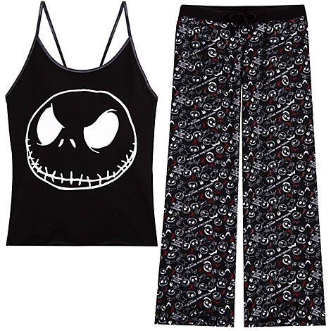 The Nightmare Before Christmas Pajama Set for Women | Sleepwear ...