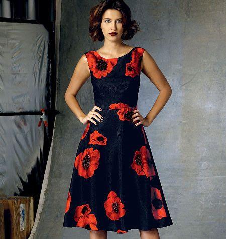 Vogue Pattern: V1422 Misses\'|Misses\' Petite Dress | Average ...