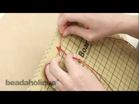 http://www.beadaholique.com/yt - In this video, see the new Macrame Board from the BeadSmith.  It's an extremely useful new tool for macrame, micro-macrame, and braiding that will hold your work in place and give you a great surface to work on.    Designer: Megan Milliken    You can find the supplies in this video at Beadaholique.com:    Braiding & Co...