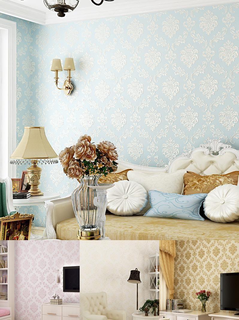 Visit To Buy Beibehang Embosse European Modern Floral Wallpaper