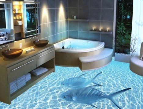 Crazy Flooring Fad Of The Future 3d Photorealistic Floors Bathroom Design Luxury Beautiful Bathroom Designs Master Bathroom Design
