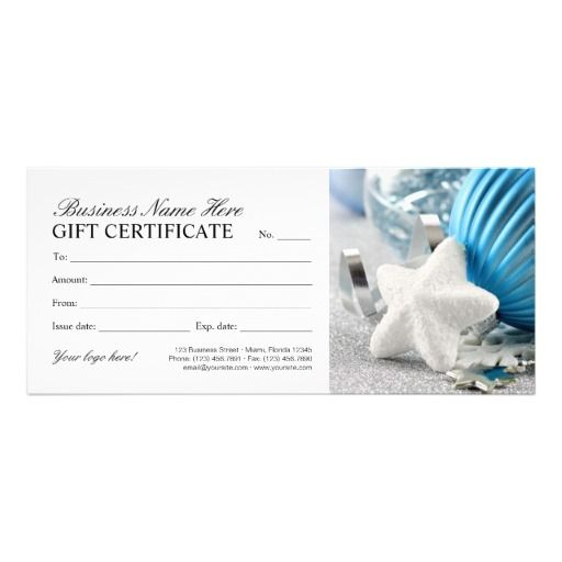Winter Gift Certificate Template With Snowflake Christmas And