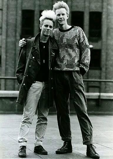 Andy Fletcher and Martin Gore of Depeche Mode; mates for life (except ofcourse when Fletch is looking for his glasses...).
