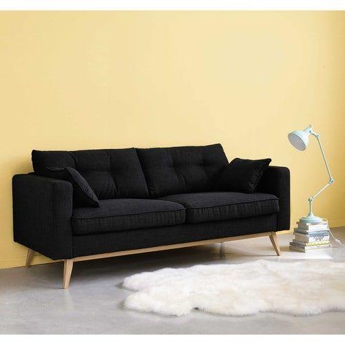 Canap convertible 3 places en tissu gris clair brooke maisons du monde home decor - Sofas maison du monde ...