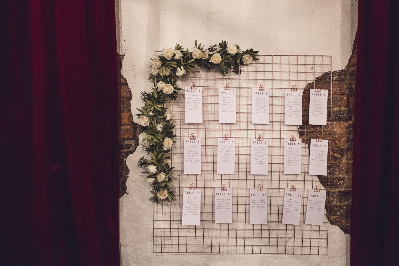 Wire Copper Table Plan | Contemporary City Wedding at People's History Museum & Hope Mill Theatre, Manchester Planned by Alternative Weddings MCR | Babb Photography -  Wire Copper Table Plan | Contemporary City Wedding at People's History Museum & Hope Mill Theatre - #Alternative #Babb #City #companyHistory #Contemporary #Copper #History #Historyarchitecture #Historycriativos #Historylayout #Historymap #Historymuseum #Historypainting #Historysubject #Hope #MANCHESTER #MCR #Mill #Museum #Peoples