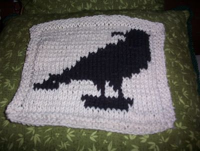 Free Knitting Pattern - Dishcloths & Washcloths : Raven Dishcloth ...
