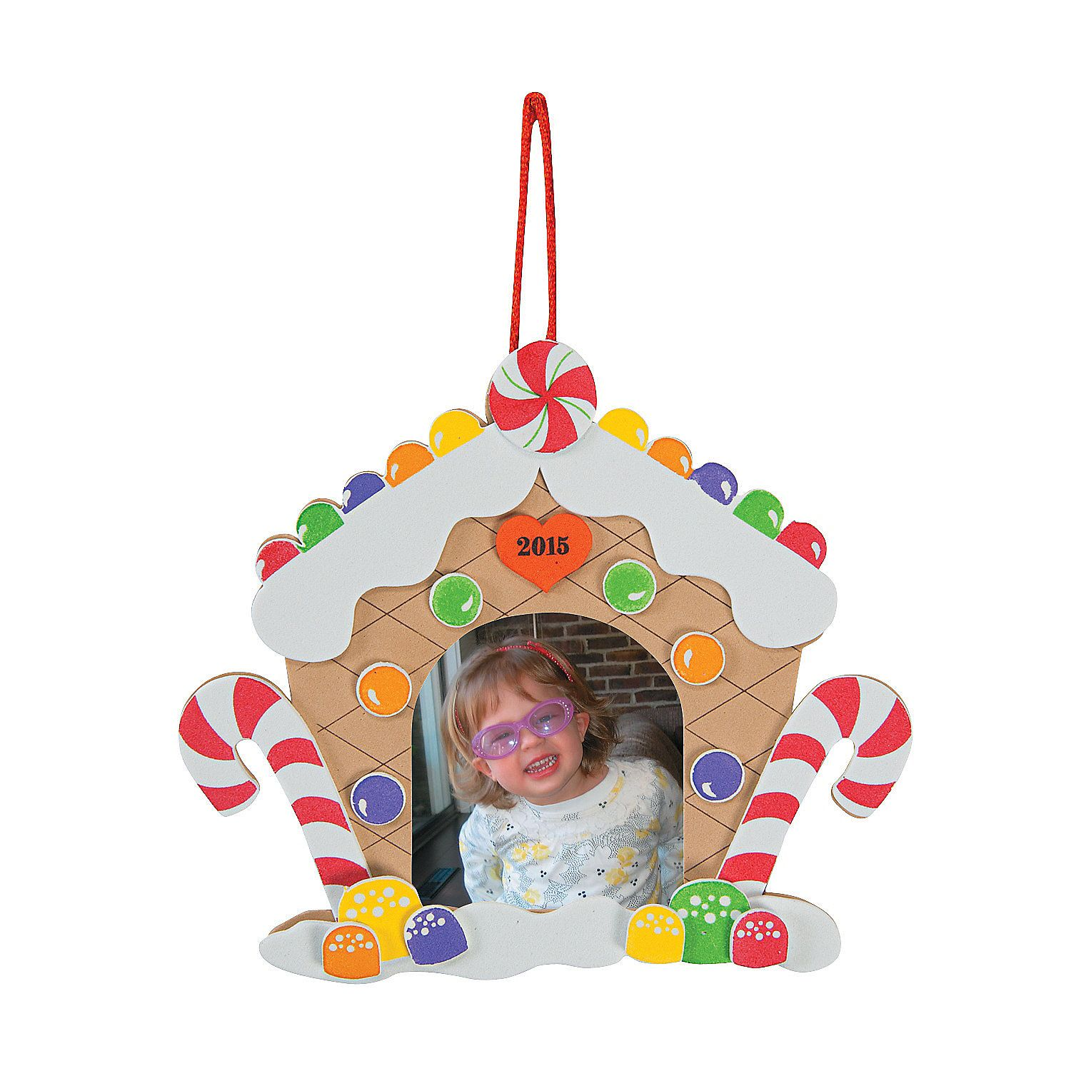 2015 Gingerbread House Picture Frame Ornament Craft Kit  Discontinued