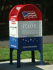 Flag Retirement Drop Box Con Immagini Cassetta Postale