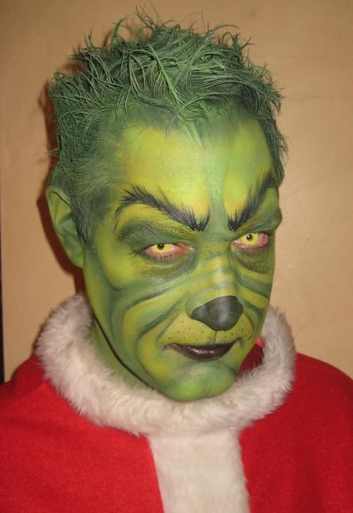 You're a mean one Mr. Grinch- amazing facepaint for halloween