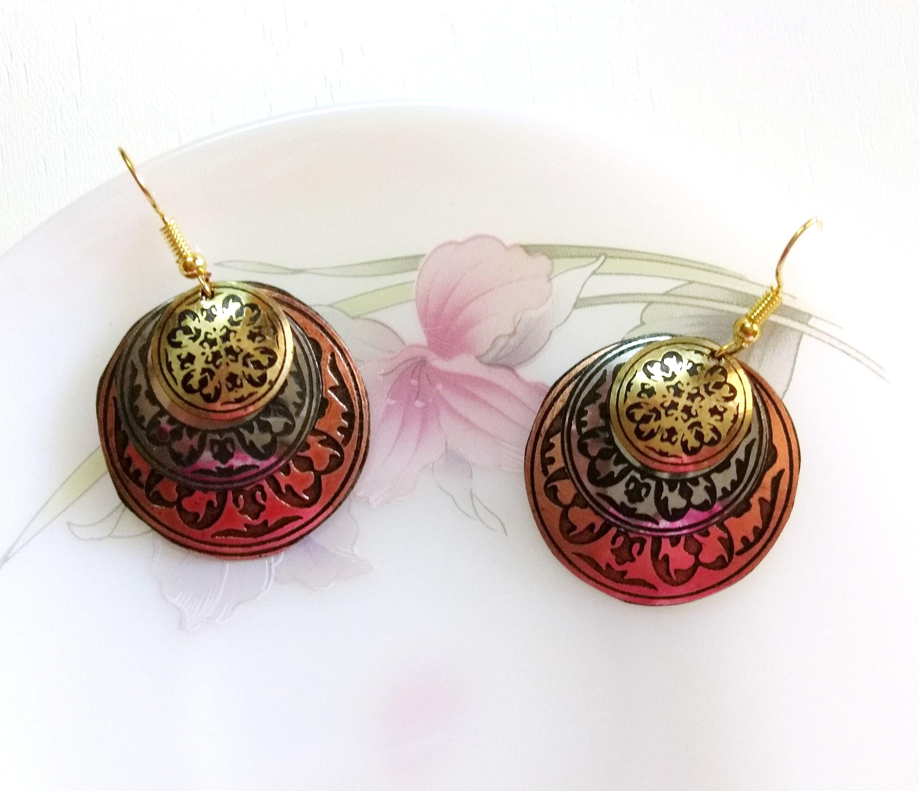 Mixed Metal Mandala Earrings