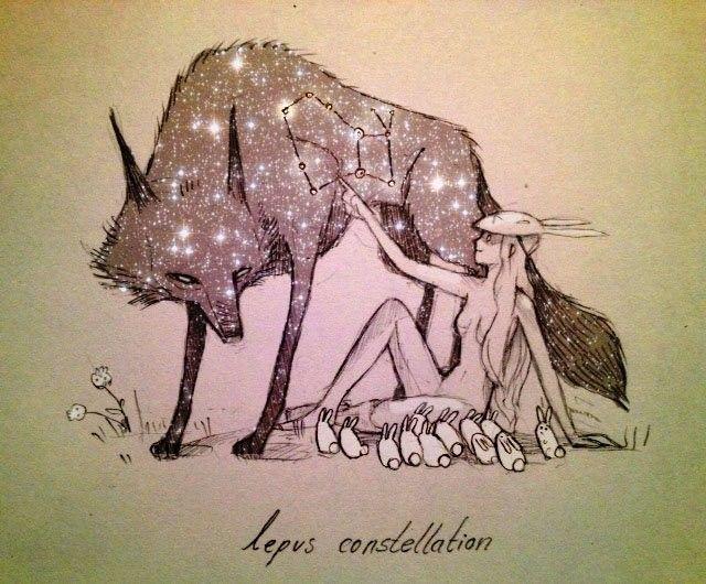 иллюстрации звездный волк фото что экран
