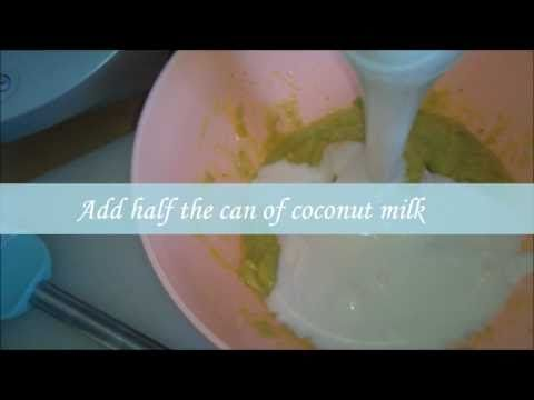 1 Large Avocado  1 Large Banana  1 Can of Coconut Milk  1 Large Egg  1 Tablespoon of Honey
