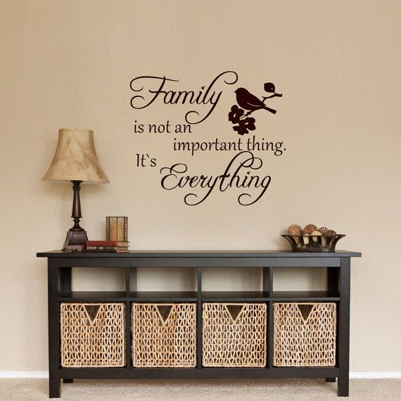 Wall Decals Family Quote Decal Vinyl Sticker  Bird от CozyDecal