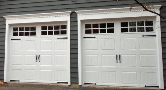 Clopay, Garage Door Gallery Collection Polyurethane Insulation 17.2 R Value  Steel Back. White