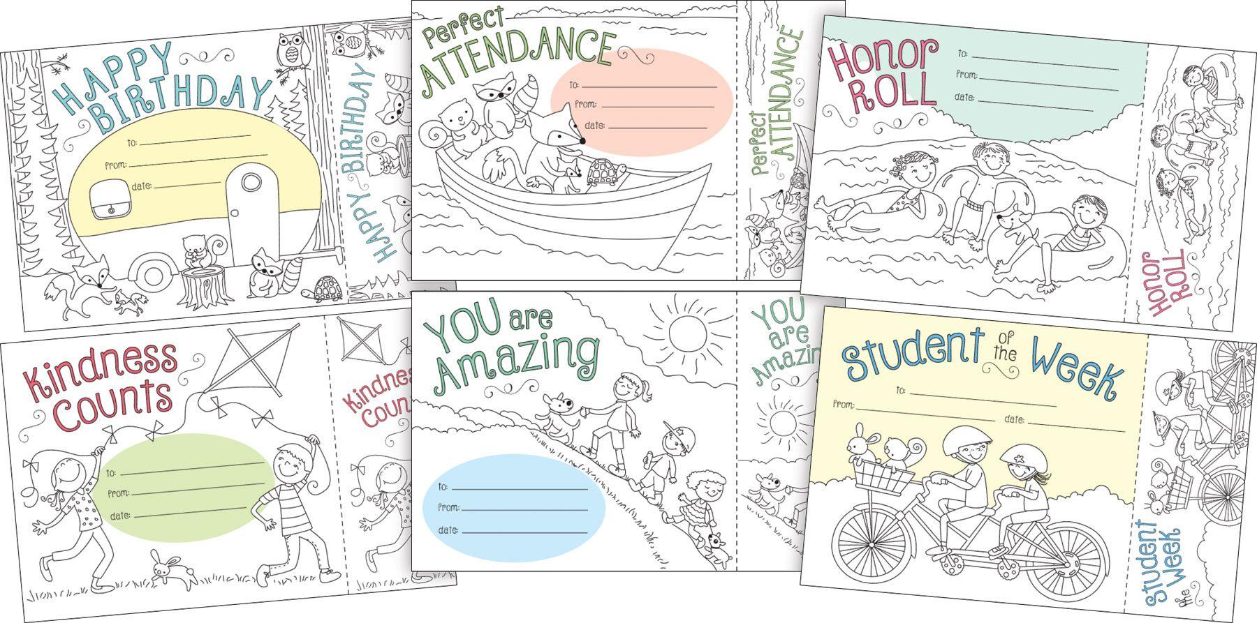 Color Me Awards Set By Barker Creek Detachable Bookmark
