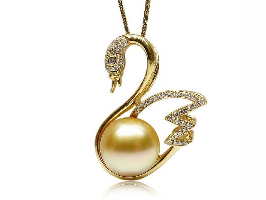 sea chain germani golden jewellery sydney and diamond pearl south yellow with product round pendant gold