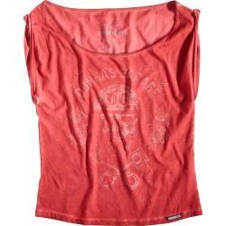 Rokker Piston Roses T-Shirt Damen Pink S Rokker