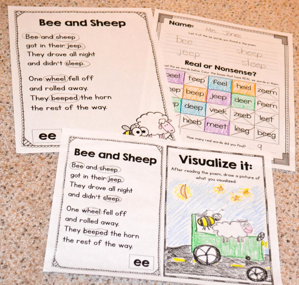 Visualization Worksheet For First Grade