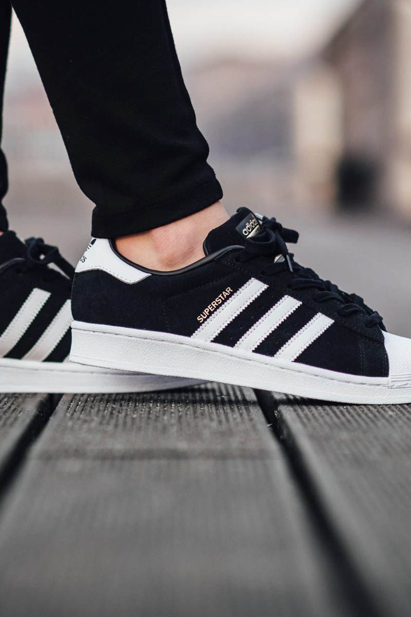 official photos 4b672 989c6 ADIDAS Superstar Suede Core Black