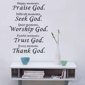 Bible Praise God Wall Stickers Vinyl Decals Scripture Art Decor Living room Sale