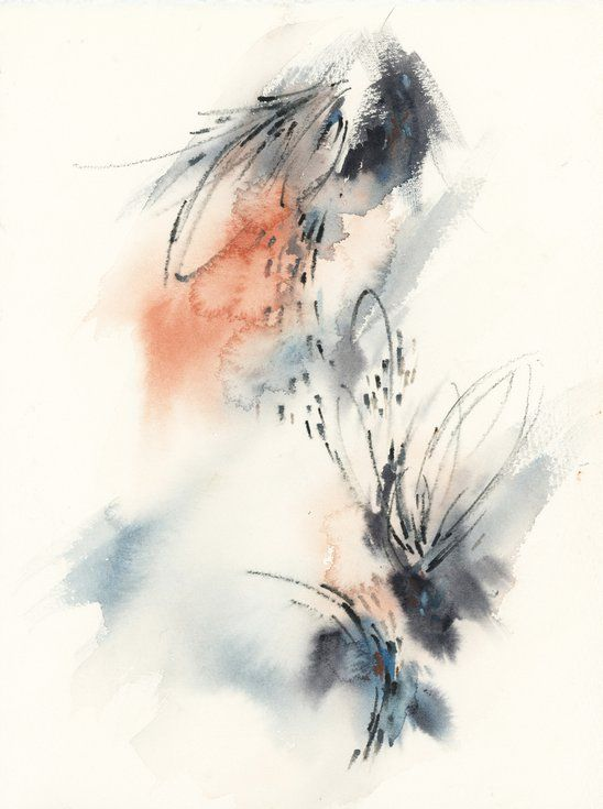 Abstract Watercolor Painting, Hope Day 1. (2020) Watercolour by Sophie Rodionov