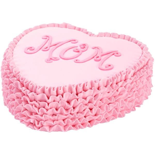Ruffled Heart Mom Cake A symbol of Moms love this heartshaped