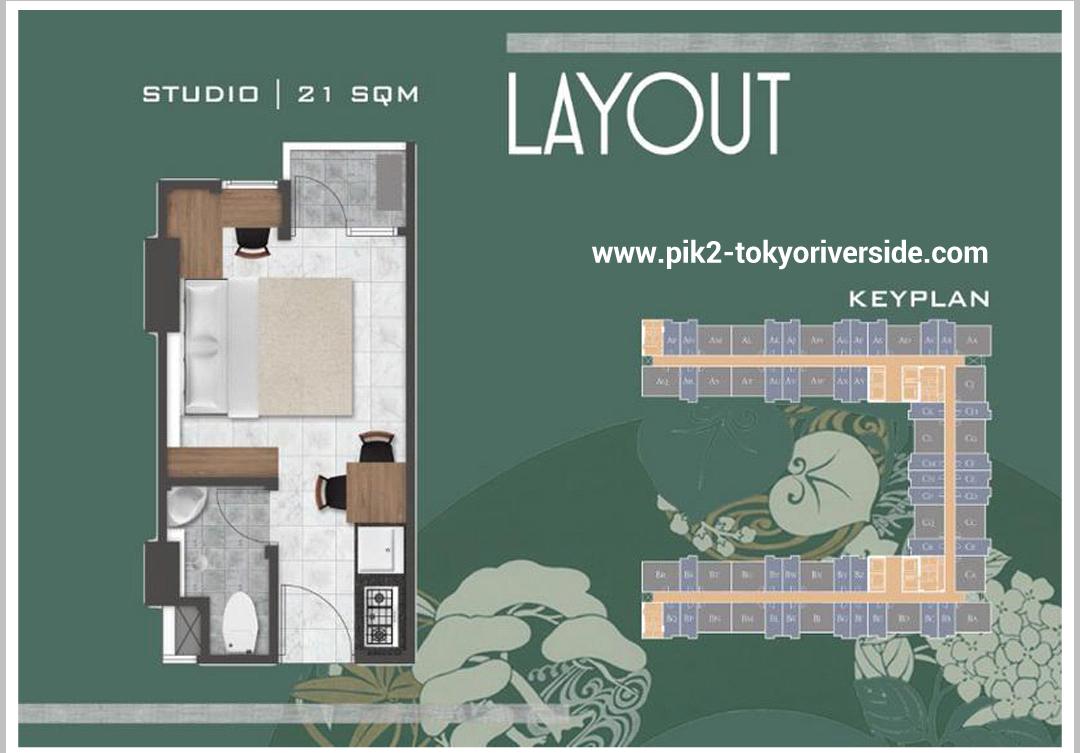 Tipe Unit Studio 21 M2 Apartemen Tokyo Riverside Pik 2 Jakarta Apartemen Dekorasi Apartemen Studio Apartemen Studio