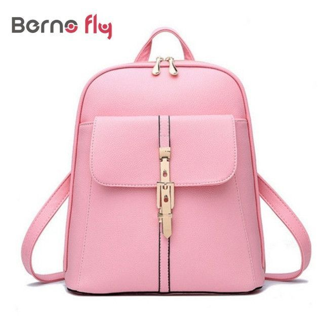 1af1aebf1d 2017 Fashion Women Backpack zipper School Bags For Teenagers Girls Preppy style  PU leather bagTop-handle Backpacks
