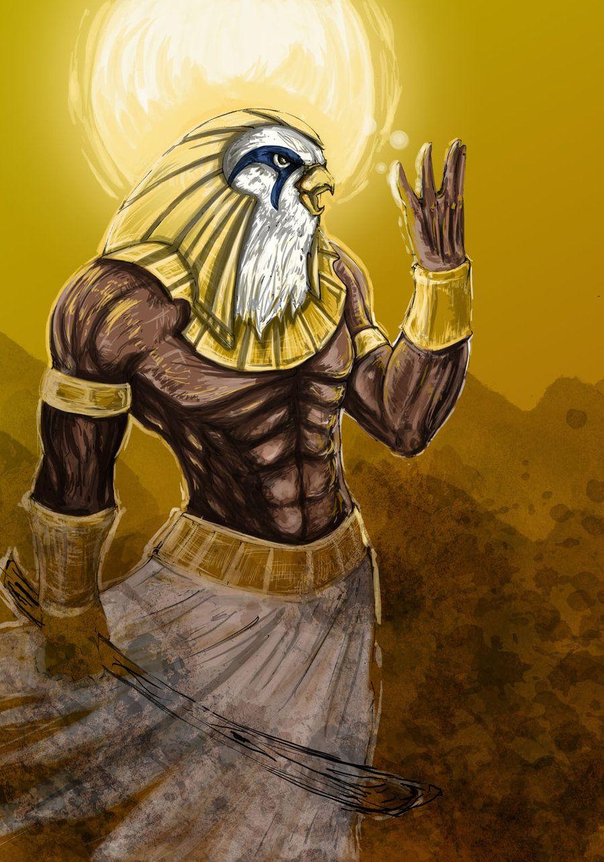 Ra: Es uno de los dioses egipcios de mayor espiritualidad. Concebido como espíritu puro, se le consideraba la divinidad que no podía representarse por carecer de todo tipo de materia.