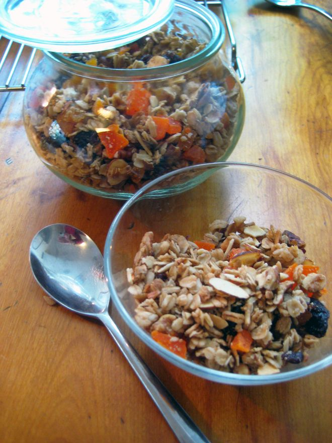 Homemade granola is easy, it tastes better than the boxed stuff and it's less expensive.