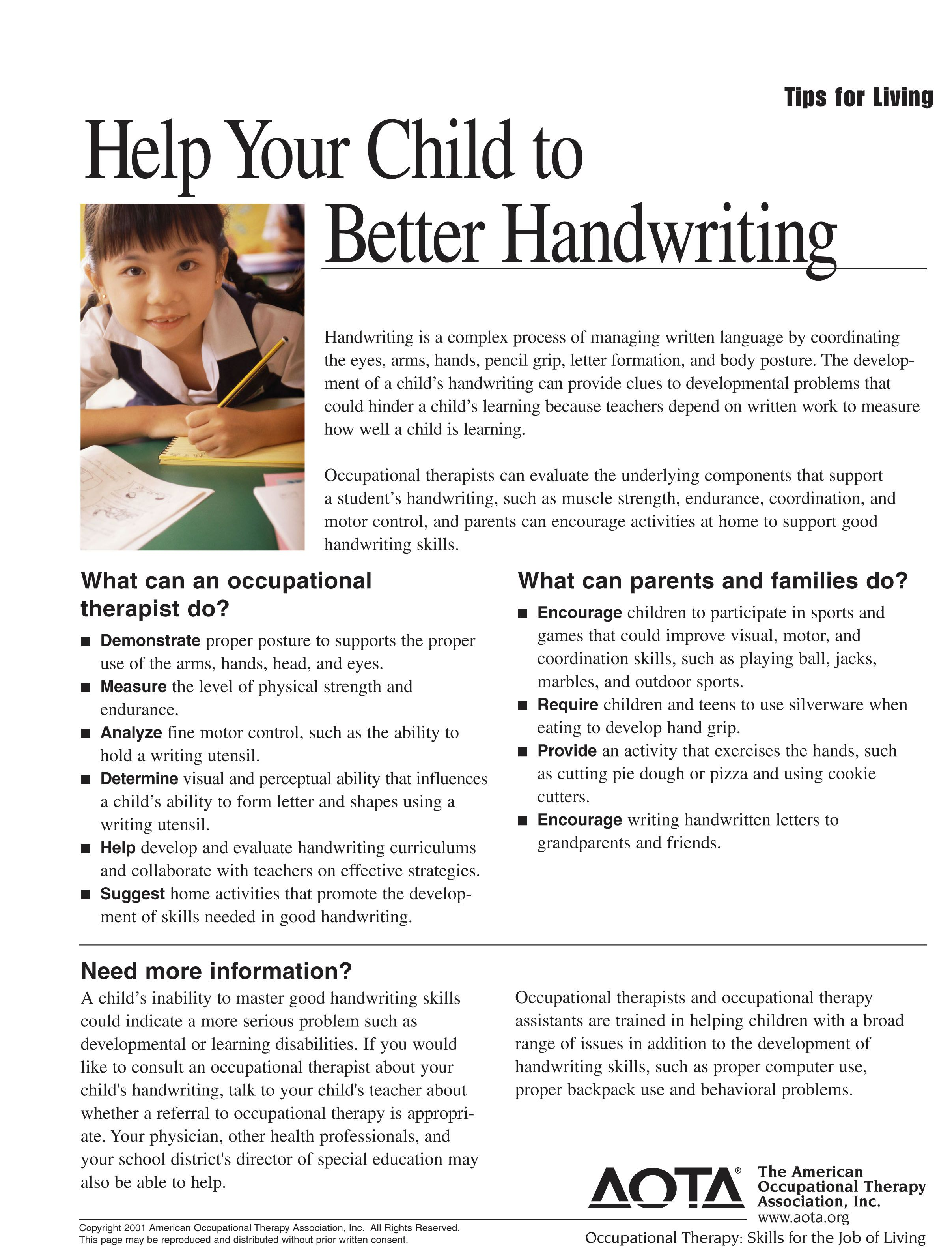 worksheet Better Handwriting Worksheets this handwriting worksheet shows what occupational therapists and parentsfamilies can do to help children