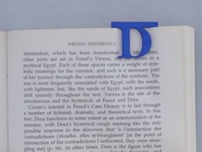 Bookmark Monogram. Initial / Letter  D  in Blue Strong & Flexible Polished