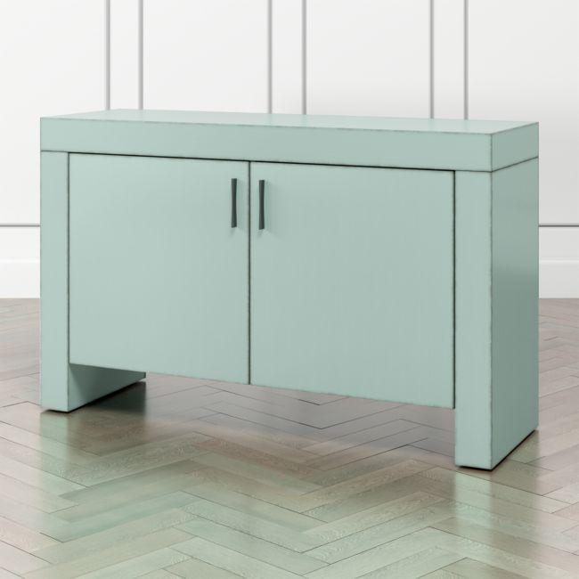 Waterfall Blue Grey Storage Cabinet In 2020 Storage Crate