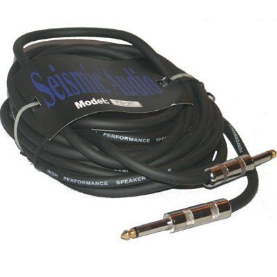 Seismic Audio Black In Color Each Cable Is 20 Feet Long By Seismic Audio 22 99 20 Foot 1 4 Speaker Cabl Sound Stage Speaker Cables Musical Instruments