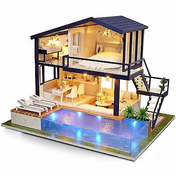 Cuteroom Time Apartment DIY Doll House With Furniture Light Gift