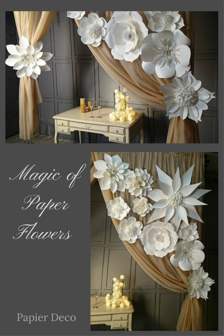 Wedding decorations paper  Large Paper FlowersGiant FlowersPaper Flower BackdropWedding